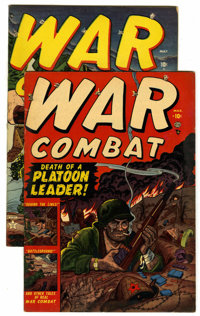 War Combat #1 and 2 Group (Atlas, 1952) Condition: Average FN