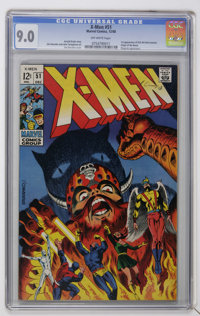 X-Men #51 (Marvel, 1968) CGC VF/NM 9.0 Off-white pages