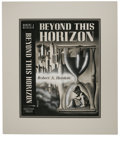 "Original Comic Art:Covers, A. J. Donnell - ""Beyond This Horizon"" Book Cover (Fantasy Press,1948). This powerful, symbolic montage was used on the cove..."