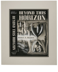 "A. J. Donnell - ""Beyond This Horizon"" Book Cover (Fantasy Press, 1948). This powerful, symbolic montage was us..."