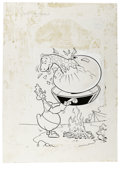 Original Comic Art:Covers, Warren Kremer - Baby Huey in Duckland Cover Original Art(Harvey,circa 1968). ...