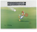 "Animation Art:Limited Edition Cel, ""Fly Ball"" Limited Edition Hand Painted Cel #190/200 Original Art(Walter Lantz Productions, 1992). ..."