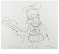 Animation Art:Production Drawing, The Simpsons - Homer Simpson, Patty Bouvier, Groundskeeper Willie,Mr. Burns, Carl, and Kearney Animation Drawing Original Art...(Total: 5 Items)