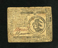 Colonial Notes:Continental Congress Issues, Continental Currency May 9, 1776 $3 Fine-Very Fine. ThisContinental faces up well from the front though there are somespli...