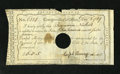 Colonial Notes:Connecticut, Hartford, CT- Comptroller's Office £6 5d Shillings Dec. 8, 1789,Extremely Fine POC. There is archival tape noted on back....