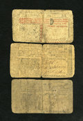 Colonial Notes:New Jersey, New Jersey April 12, 1760 Threesome Fine. Two 12 shilling and one thirty shilling examples are seen from this scarcer early ... (Total: 3 notes)