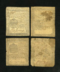 Colonial Notes:Pennsylvania, Pennsylvania 1772-1777 Small Change Quartet Very Fine. Anattractive group of four small change notes from different 1770's... (Total: 4 notes)