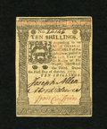 Colonial Notes:Pennsylvania, Pennsylvania October 1, 1773 10s Gem New. This is about as broadlymargined and example of this columned issue as you are ev...