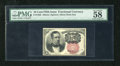 Fractional Currency:Fifth Issue, Fr. 1266 10c Fifth Issue PMG Choice About Unc 58EPQ. A lovely example of this short key variety that looks like a near gem t...