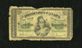 "Canadian Currency: , DC-1b 25¢ 1870 This note is of the large letter ""B"" variety anddisplays a bit of edge trauma. About Good-Good...."