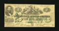 Confederate Notes:1862 Issues, T43 $2 1862. This PF-1 Cr. 338 has nice edges for the grade. VeryGood....