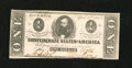 Confederate Notes:1863 Issues, T62 $1 1863. A hint of handling is noted on this bright and well printed Crisp Uncirculated PF-1 Cr. 474 Plate State 1 n...