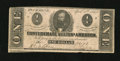 Confederate Notes:1863 Issues, T62 $1 1863. A few pinholes are noted, but do not detract from theoverall appearance of the note. Very Fine....