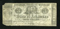 Obsoletes By State:Arkansas, Little Rock, AR- Arkansas Treasury Warrant $3 July 22, 1862 Cr. 46a. The green overprint graces the back of this issue. Ve...