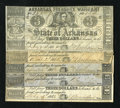 Obsoletes By State:Arkansas, Little Rock, AR- State of Arkansas Arkansas Treasury Warrant various dates 1862-1864. This lot contains six examples that re... (Total: 6 notes)