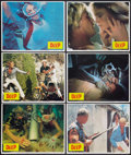 "Movie Posters:Adventure, The Deep (Columbia, 1977). Lobby Card Set of 12 (11"" X 14"") &Promotional Poster (17"" X 56""). DS. Adventure.. ... (Total: 13Items)"