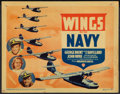 """Movie Posters:Drama, Wings of the Navy (Warner Brothers, 1939). Title Lobby Card (11"""" X 14""""). Drama.. ..."""