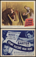 """Movie Posters:Mystery, The Crime Doctor's Man Hunt and Other Lot (Columbia, 1946). TitleLobby Card and Lobby Card (11"""" X 14""""). Mystery.. ... (Total: 2Items)"""