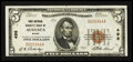 National Bank Notes:Maine, Augusta, ME - $5 1929 Ty. 1 First National Granite Bank Ch. # 498. ...