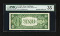 Error Notes:Inverted Reverses, Fr. 1607 $1 1935 Silver Certificate. PMG Choice Very Fine 35 Net.....