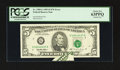 Error Notes:Printed Tears, Fr. 1985-G $5 1995 Federal Reserve Note. PCGS Choice New 63PPQ.....
