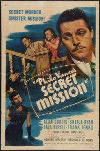 "Philo Vance's Secret Mission (PRC, 1947). One Sheet (27"" X 41""). Mystery"