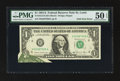 Error Notes:Foldovers, Fr. 1912-H $1 1981A Federal Reserve Note. PMG About Uncirculated 50EPQ.. ...