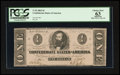 Confederate Notes:1862 Issues, T55 $1 1862 PF-2.. ...