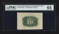 Fractional Currency:Second Issue, Fr. 1244SP 10¢ Second Issue Wide Margin Back PMG Choice Uncirculated 64.. ...