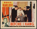 """Movie Posters:Horror, Before I Hang (Columbia, 1940). Lobby Card (11"""" X 14""""). Horror.. ..."""