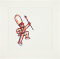 animation art:Production Drawing, The Simpsons Drum Major Production Drawing Original Art(Fox, undated)....