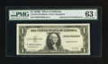 Error Notes:Obstruction Errors, Fr. 1614 $1 1935E Silver Certificate. PMG Choice Uncirculated 63EPQ.. ...
