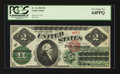Large Size:Legal Tender Notes, Fr. 41 $2 1862 Legal Tender PCGS Very Choice New 64PPQ.. ...