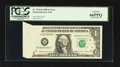 Error Notes:Foldovers, Fr. 1914-B $1 1988 Federal Reserve Note. PCGS Gem New 66PPQ.. ...