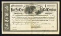 Confederate Notes:Group Lots, Ball 354 Cr. 160 Undenominated Four Per Cent Call Certificate 1864Extremely Fine.. ...