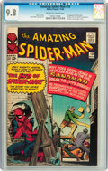Silver Age (1956-1969):Superhero, The Amazing Spider-Man #18 (Marvel, 1964) CGC NM/MT 9.8 Off-white to white pages....