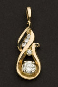 Estate Jewelry:Pendants and Lockets, Fine Diamond & Gold Pendant. ...