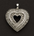Estate Jewelry:Pendants and Lockets, Exceptional Diamond & Gold Heart Pendant. ...