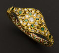 Estate Jewelry:Bracelets, Mughal Diamond, Gold & Enamel Bracelet. ...