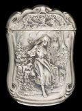 Silver Smalls:Match Safes, AN AMERICAN SILVER AND SILVER GILT MATCH SAFE . Maker unknown,American, circa 1900. Marks: STERLING . 2-3/8 inches high...