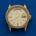 Timepieces:Wristwatch, Rolex Gent's Ref. 18038 Gold President - Head Only, No Band, circa 1984. ...