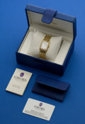 Timepieces:Wristwatch, Concord Gold & Diamond Bracelet Watch With Pearl Dial. ...