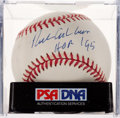 "Baseball Collectibles:Balls, Richie Ashburn ""HOF '95"" Single Signed Baseball, PSA Mint 9. ..."