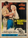 "Movie Posters:Adventure, River of No Return (DEAR Film, R-1966). Italian 4 - Foglio (55"" X78""). Adventure.. ..."