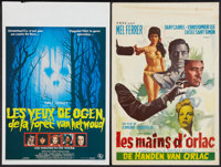 """The Hands of Orlac & Other Lot (S.B.D.C, 1960). Belgians (2) (14"""" X 21.25""""). Horror. ... (Total: 2 Items)"""