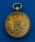 Timepieces:Pocket (pre 1900) , John Moncas Liverpool 18k Gold 50 mm Lever Fusee. ...