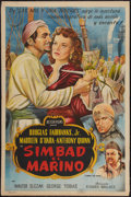 "Movie Posters:Adventure, Sinbad the Sailor (Astor Films, 1950s). Argentinean Poster (29"" X43""). Adventure.. ..."