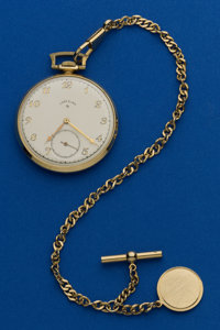 Lord Elgin 12 Size 14k 21 Jewel Gold Pocket Watch