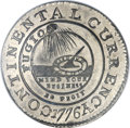 Colonials, 1776 $1 Continental Dollar, CURRENCY, Pewter, EG FECIT MS67 NGC.Newman 3-D, Hodder 3-B, W-8460, Low R.4....