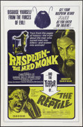 """Movie Posters:Horror, Rasputin: The Mad Monk/The Reptile Combo (20th Century Fox, 1966).One Sheet (27"""" X 41""""). Horror.. ..."""